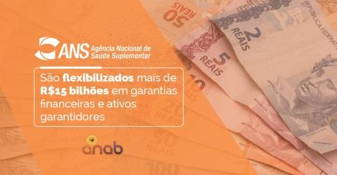 São flexibilizados mais de R$15 bilhões em garantias financeiras e ativos garantidores